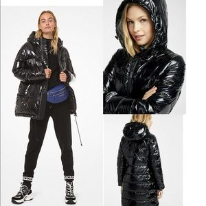 NWT Michael Kors Shiny Quilted Down Puffer Jacket